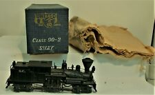 UNITED SCALE MODELS HO BRASS CLASS 90-2 SHAY LOCOMOTIVE C-7 ORIGINAL BOX RUNS