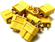 C0105Bx5 Compatible XT60 XT-60 Connector Yellow Male Female x 5 - v1 Better Set