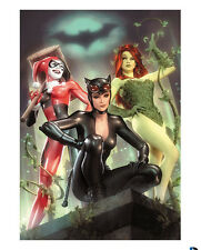 Sideshow Exclusive Gotham City Sirens Art Print Giclée Harley Quinn Catwoman Ivy