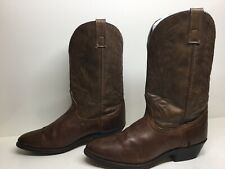 VTG WOMENS UNBRANDED COWBOY BROWN BOOTS SIZE 10 M