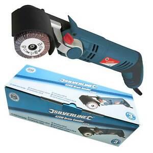 Silverline Silverstorm Drum Sander Kit with Sanding Sleeve/Flap Wheel Tool 420W