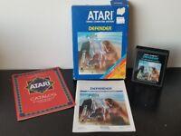 Defender Atari 2600 COMPLETE in BOX CIB -Box Manual Cart- NEAR MINT
