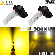Alla Lighting Super Bright LED 9145 Driving Fog Light Bulb 3000K Yellow Upgrade