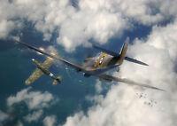 SPITFIRE VS LUFTWAFFE 30X30 INCH LARGED FRAMED CANVAS WW2 BATTLE OF BRITAIN RAF