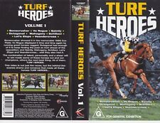 HORSERACING TURF HEROS VHS VIDEO PAL~ A RARE FIND