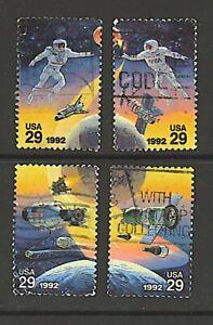 Scott #2631-34 Used Set of 4, Space Accomplishments