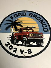 New ListingVintage Ford Bronco Porcelain Sign Gas Oil Tough Truck Dealership 73