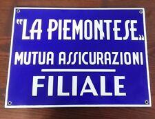 A205M_LA PIEMONTESE MUTUA ASSICURAZIONI FILIALE_TARGA IN LATTA