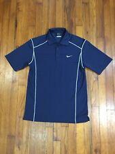 NIKE Golf Dri Fit Polo Shirt Blue Pullover Mens Size Medium M Short Sleeve VGC
