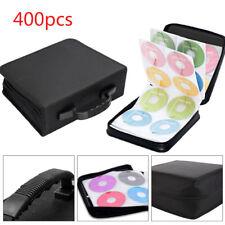 400PCS CD DVD Disc Carry Case Holder Protector Storage Bag Wallet Binder Sleeve