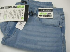 NWT Womens D. Jeans sz 14 High Waist Skinny Safira Wash