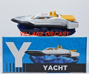 "2016 Matchbox Learning Blox ""Y"" Hydro Cruiser™ WHITE / BLACK HULL / MINT w/ BOX"