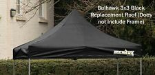 BULHAWK® 3x3 PREMIUM 32 BLACK GAZEBO REPLACEMENT TOP CANOPY ROOF COVER 3M X 3M