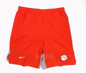 "Clemson Tigers Nike Team Flex Player 9"" Short Pockets Men's M Orange AO5915"