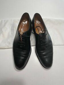 John Lobb Men's Black Oxford Dress Shoes Sz-8 1/2