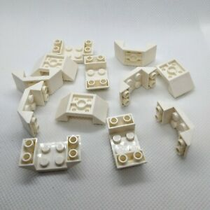 12x Genuine LEGO Part 4871 WHITE 2x4 Inverted Double Sided Sloped Sided Piece
