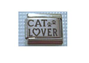 9mm Italian Charms Charm L40 Cats   Cat Lover Fits Classic Size Bracelet