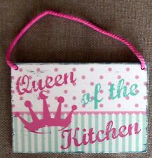 Kitchen Plaque 'Queen of The Kitchen' Vintage Retro Style New