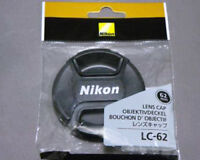Nikon Genuine 62mm CENTRE PINCH CLIP LC-62 LENS CAP for Nikkor from JAPAN F/S