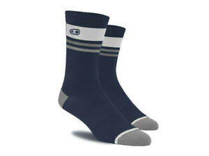 Crank Brothers Icon Mountain Bike Socks, Navy/Silver, Large/Extra Large 43-48