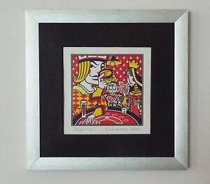 Royal Flush Frank De Man Limited Edition Print No. 28/30 Silver Frame