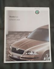 Skoda Geneva Motorshow Press Kit Brochure Pack 2004 - Octavia, Superb and Fabia