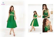 Indian Pakistan Kurti Ethnic Woman Bollywood Designer Dress Tunic 42 44 8055