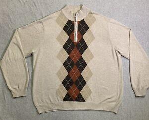 Bass Men's Mock Neck Sweater Long Sleeve Size XL
