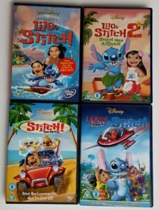 Lilo And Stitch 1, 2, 3, 4 Disney Movie DVD Quadrilogy Collection/Leroy & Stitch