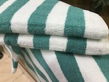 6 pack new large beach resort pool towels in cabana stripe green 30x70