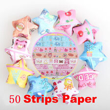 50Pcs Cute Folding Lucky Origami Wish Star Paper Strips Papers Crafts Child Gift