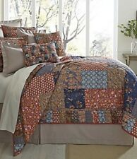 4a8ef02b1d9fd VILLA SILVIO Cottage Red PATCHWORK Full Queen 3 PC Quilt Set Noble  Excellence