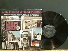 DON HUSTAD & TEDD SMITH  LP  Billy Graham Crusades  LP  U.S. pressing GREAT !!