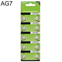 AG7 1.5V 10X LR927 395 SR927 195 Alkaline Button Coin Cells Watch Battery Sturdy
