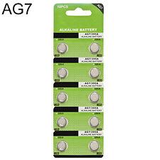 Button Coin Cells Watch Battery 10X AG7 LR927 395 SR927 195 1.5V Alkaline Sturdy
