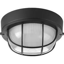 Progress Lighting Bulkheads Collection 1-Light Black Flush Mount