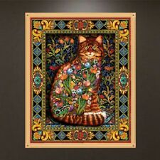 DIY Flower Cat 5D Diamond Painting Embroidery Cross Craft Stitch Kits Home Decor
