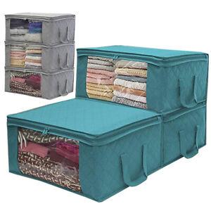 Unterbett Kleidung Aufbewahrungsboxen Taschen Reißverschluss Kleiderschrank Home
