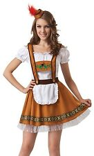 Ladies Sexy German Beer Girl Oktoberfest Festival Fancy Dress Costume Outfit