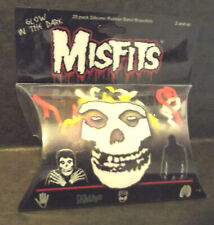 Misfits 20 Pack Silicone Rubber Band Bracelets NWOT New Glow in the Dark