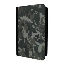 Army Camo Camoflage Passport Holder Case Cover - Black white - S-G1254