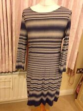 Phase Eight Blurred Stripe Tunic 14 Navy White New Tags