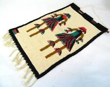 "Vintage 22"" Thick Hand Woven Africa Dancing Warriors Hanging Native Tribal Art"