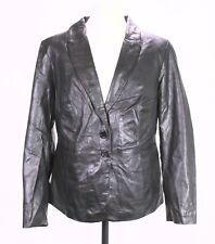 LB100 Singh Madan Damen Lederjacke Blazer Jacke Leder schwarz Gr. 46 tailliert