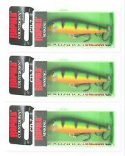 "(3) Rapala Countdown CD-7 Sinking 2 3/4"" Crankbaits 1/4 Oz Lures Perch CD07 P"