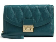 Vera Bradley Leather Ultimate Wristlet In Sycamore Forest Green