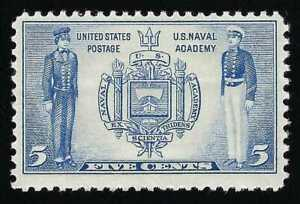 SALE 1937 United States Naval Academy Annapolis Seal & Midshipmen US Navy Stamp