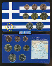Greece. Greek Euro Coins UNC Year: 2006 Compl. set of 8 values (1 c. to 2 euros)