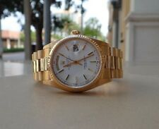 ROLEX 18038 PRESIDENTIAL DAY DATE 18K YELLOW GOLD WHITE STICK DIAL