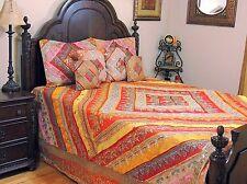 Bohemian Indian Inspired Ethnic Bedding - Sari Quilted Duvet Pillow Shams ~ King